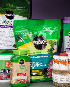 A selection of different fertilizer options