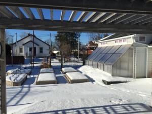Outside winter wonderland, January 24, 2015